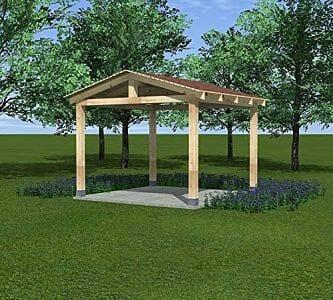 pergolas con techo de madera
