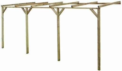 pergola de madera con techo barata