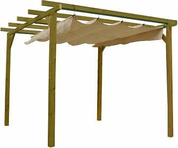 Pergola de madera barata